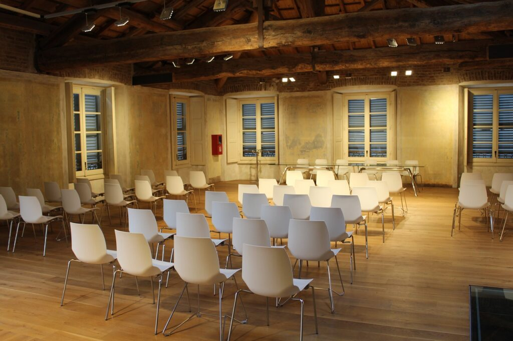 room, conference, chairs